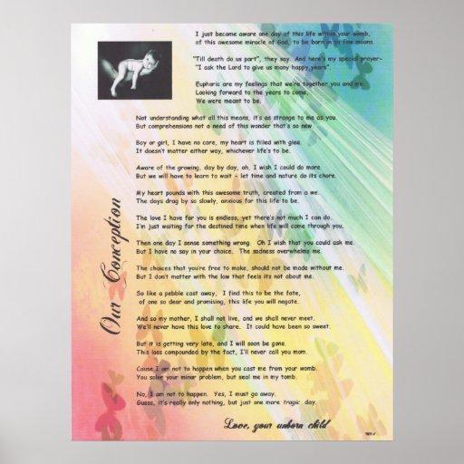 Nuestro favorable poema de la vida del concepto posters