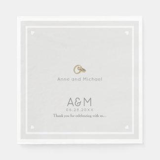 nuestro fiesta de recepción gris pálido del boda servilletas de papel