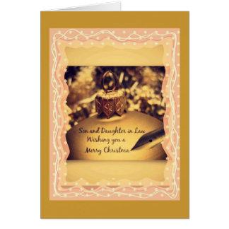 nuestro hijo y nuera maravillosos tarjeta de felicitación