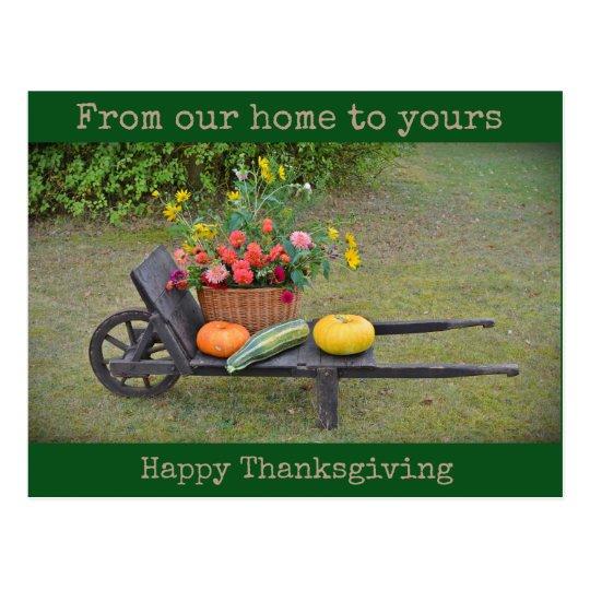 Nuestro hogar el suyo - postal feliz de la acción