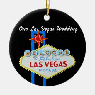 Nuestro Las Vegas que casa la foto Adorno Redondo De Cerámica