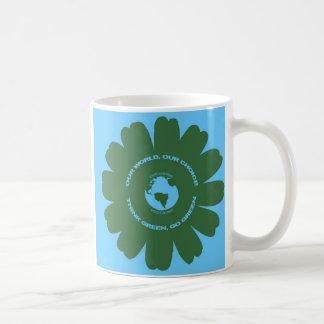Nuestro mundo nuestra opción taza de café