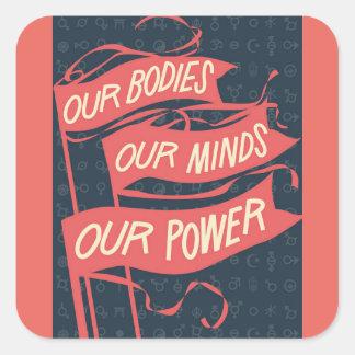 Nuestro pegatina de los cuerpos
