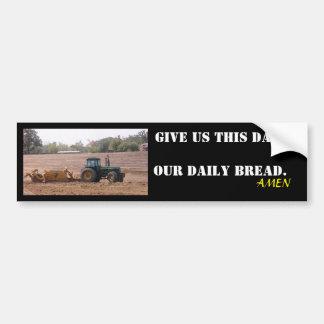 Nuestro pegatina diario del tractor del pan