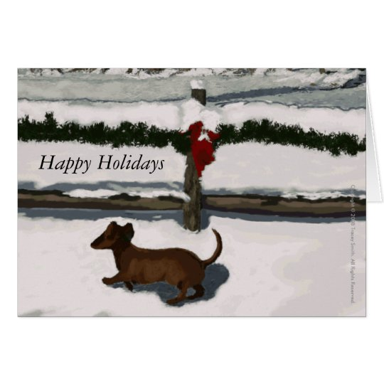 Nuestro perrito a su tarjeta de Tracey Smith