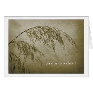 nuestro pésame cordial tarjeta de felicitación