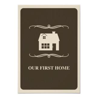 nuestro primer casero (hogar de la MOD) Invitación 8,9 X 12,7 Cm