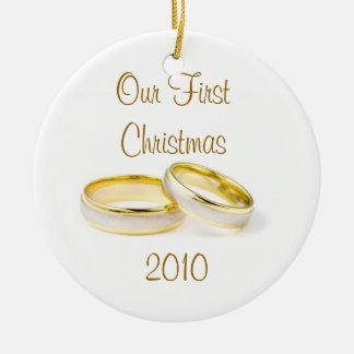 Nuestro primer ornamento del navidad adorno de navidad