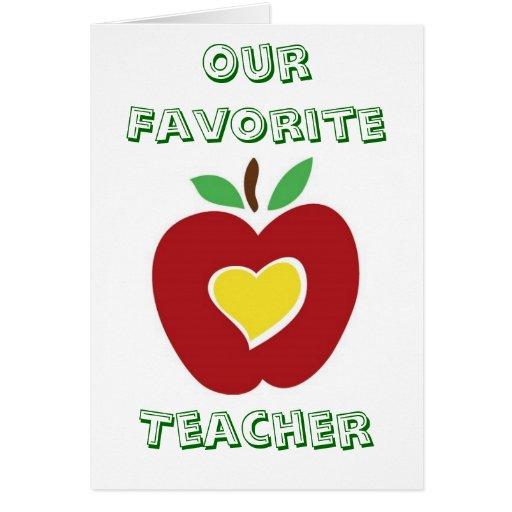 Nuestro profesor preferido tarjeton