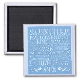 Nuestro rezo del padre, sombra azul imán