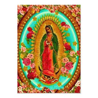 Nuestro Virgen María mexicano del santo de señora Invitación 12,7 X 17,8 Cm