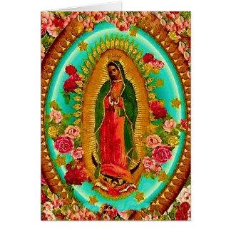 Nuestro Virgen María mexicano del santo de señora Tarjeta De Felicitación