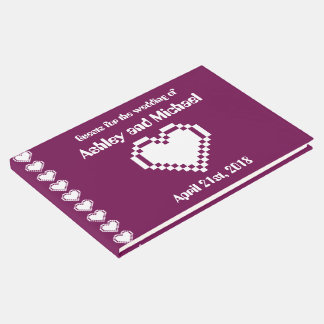 Nuestros corazones de 8 bits en libro de visitas