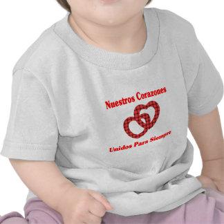 Nuestros Corazones Unidos Camisetas