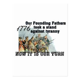 Nuestros fundadores contra tiranía postales