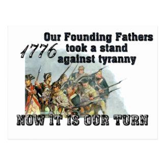 Nuestros fundadores contra tiranía postal