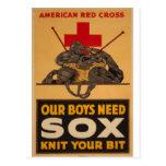 Nuestros muchachos necesitan la guerra mundial de  tarjetas postales