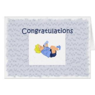 Nueva abuela de la enhorabuena tarjeta de felicitación