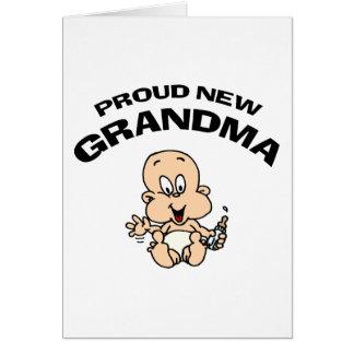 Nueva abuela orgullosa tarjeton