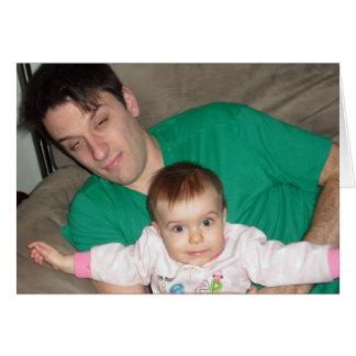 Nueva advertencia del padre (y Congrats) Tarjeta Pequeña