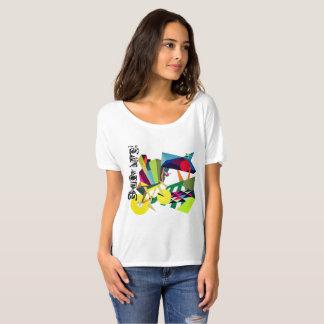NUEVA alegría del diseño popular de la vida de Camiseta