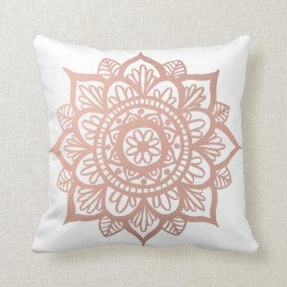 Nueva almohada de tiro color de rosa de la mandala