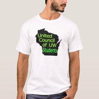 Nueva cal unida del logotipo del consejo en negro camiseta