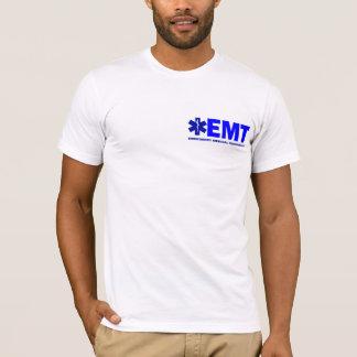Nueva camisa Azul-indicada con letras del