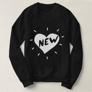 Nueva camiseta de American Apparel del corazón/de