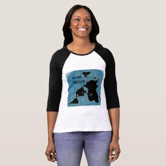 Nueva camiseta del jersey del mapa de la tierra