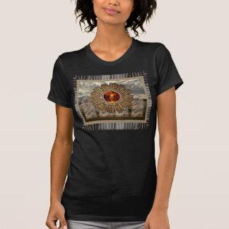 Nueva camiseta del negro del collage de la foto de