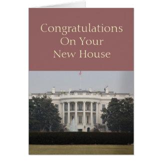 Nueva casa - enhorabuena en su nueva casa tarjeta de felicitación