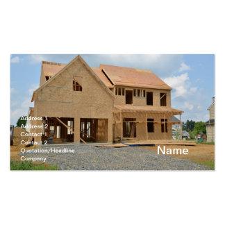 nueva casa unifamiliar bajo construcción plantilla de tarjeta personal
