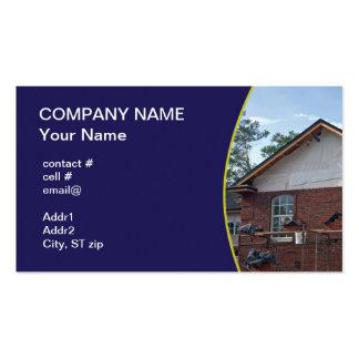 Nueva construcción del hogar del ladrillo plantilla de tarjeta personal