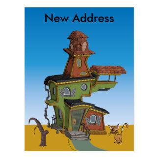 Nueva dirección de la casa fea postal