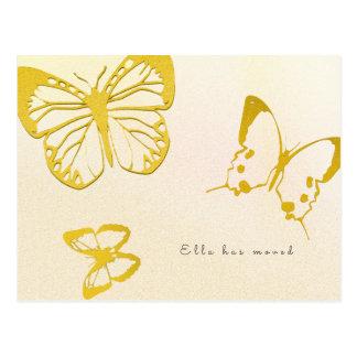 Nueva dirección de la mariposa para su postal de