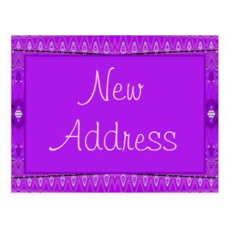 nueva dirección púrpura postal