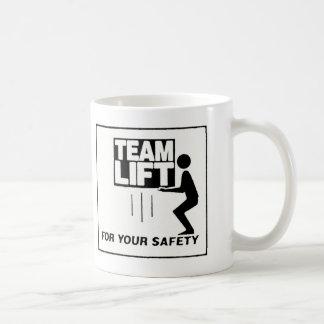 nueva elevación del equipo taza de café