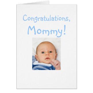 Nueva enhorabuena de la mamá del bebé tarjeta de felicitación