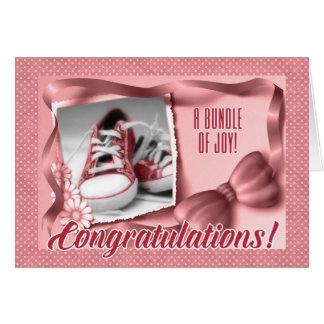 Nueva enhorabuena de los padres - nacimiento tarjeta de felicitación
