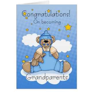 Nueva enhorabuena del bebé de los abuelos tarjeta de felicitación