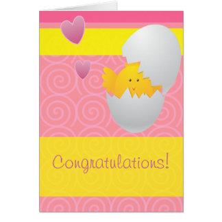 ¡Nueva enhorabuena del bebé! Tarjeta De Felicitación