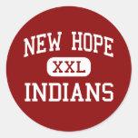 Nueva esperanza - indios - alta - nueva esperanza etiquetas redondas