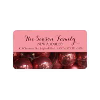 Nueva etiqueta de los ornamentos del rosa de la etiquetas de dirección