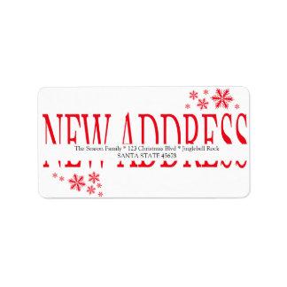 Nueva etiqueta del día de fiesta del copo de nieve