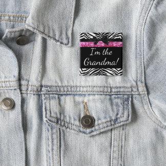Nueva etiqueta del nombre de la abuela de la chapa cuadrada