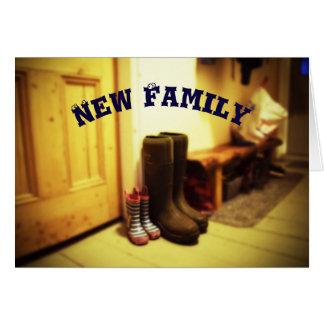 Nueva familia, tarjeta de felicitación