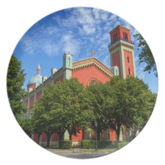 Nueva iglesia luterana en Kezmarok, Eslovaquia Plato