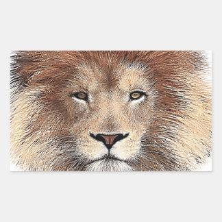 Nueva impresión del león pegatina rectangular