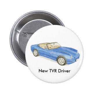 Nueva insignia del conductor de TVR Chapa Redonda De 5 Cm